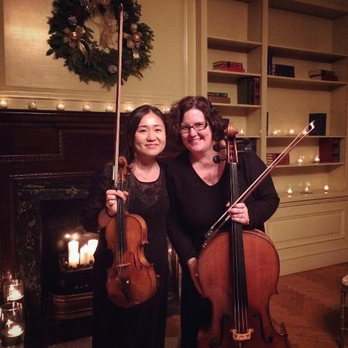 Violinist And Cellist At Stotesbury Mansion